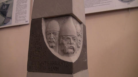 Models of monuments to the founder of Russia Rurick Footage