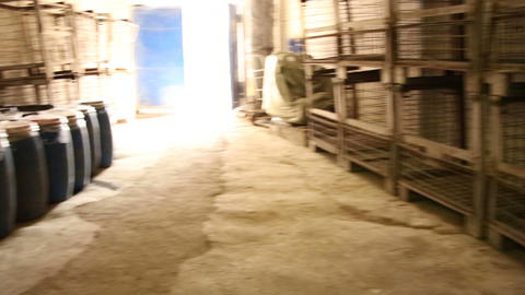 Drums in the warehouse Stock Video Footage