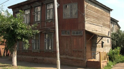 Old wooden house Stock Video Footage