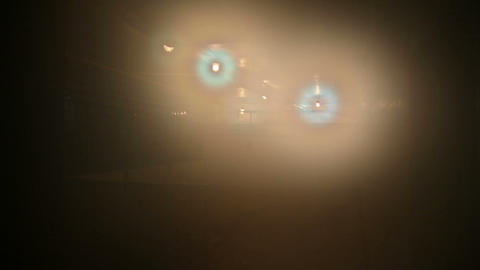 The light in the fog Stock Video Footage