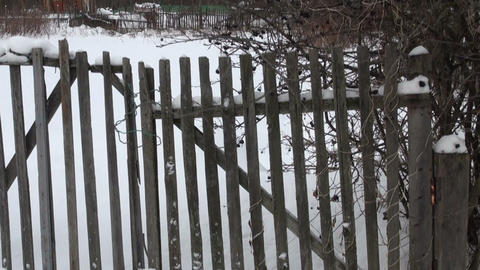 The old fence Stock Video Footage