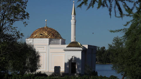 landscape with mosque Stock Video Footage