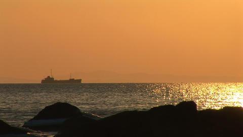 sea sunset Footage