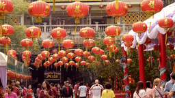 Chinese New Year Lanterns Stock Video Footage