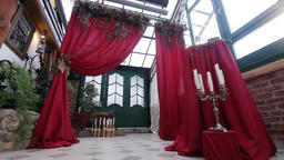 Wedding ceremony and wedding decorations Footage