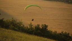 Paraglider in the sky over the steppe Footage