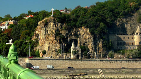 Ancient castle in Budapest Footage