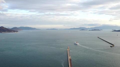 空から見る瀬戸内海の様子 ビデオ