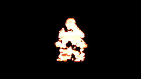 Symbol air freshener - tree burns out of transparency, then burns again. Alpha channel Premultiplied Animation