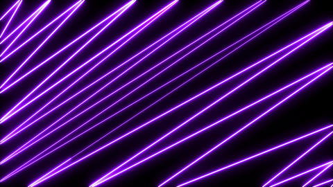 Abstract creative neon laser led lines. Retro disco, club neon sound wave show background. Colorful Animation