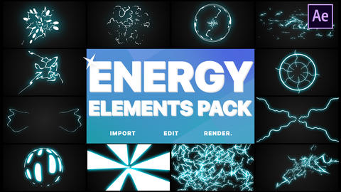 Energy Elements Pack After Effects Template