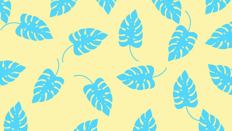 [alt video] Tropical leaf minimal motion design animation