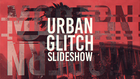 Urban Glitch Slideshow After Effects Template