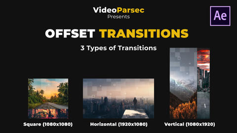 Offset Transitions After Effects Template