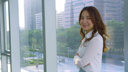 Asian Business Woman Smile Live影片