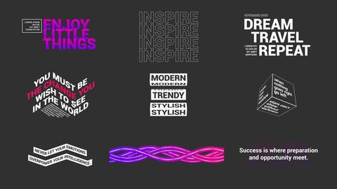 Modern Titles モーショングラフィックステンプレート