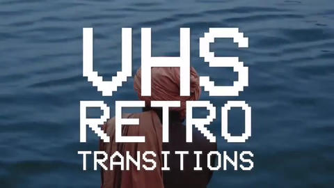 VHS Transitions Plantillas de Premiere Pro