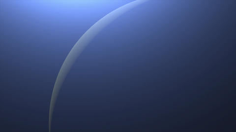 Solar Eclipse over Neptune Planet. Big, blue planet… Stock Video Footage