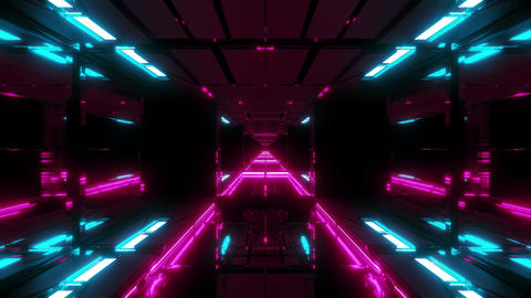 glowing futuristic sci-fi temple with nice reflection 3d illustration wallpaper Animation