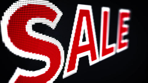 SALE LED sign Animation