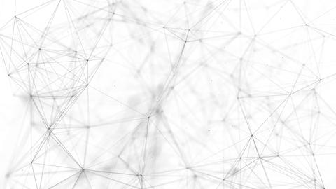 Black white plexus with dots, lines, triangles Background Live Action