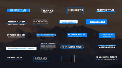 20 Animated Titles IV After Effects Template