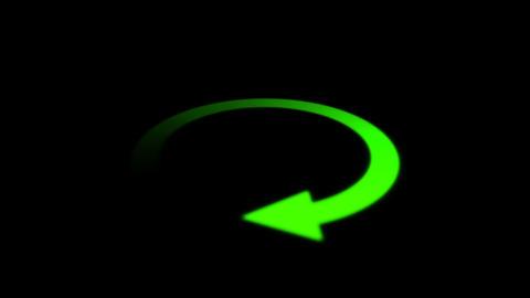 Loading circle icon animation isolated on black background Animation