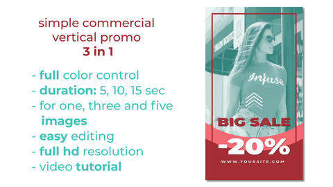 Simple commercial vertical After Effects Template