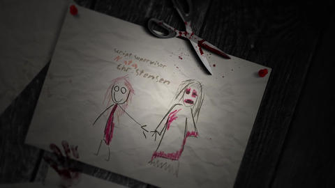 CREEPY DRAWINGS opening titles After Effects Template