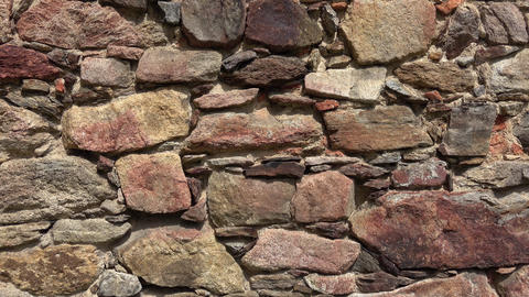 Texture of a stone wall. Old castle stone wall texture background Footage