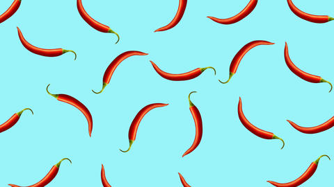 Minimal motion design Chili pepper animation CG動画