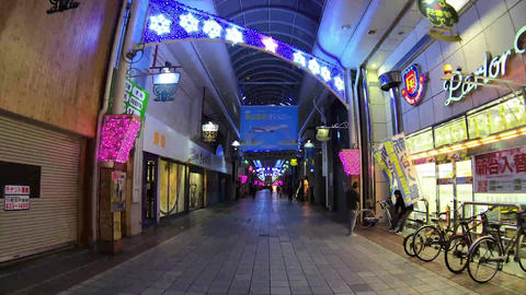 long shopping street in Takamatsu City kagawa Prefecture Live Action