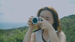 Beautiful Girls Enjoy The Holiday Of Taiwan Travel And Taking The Photo Live影片