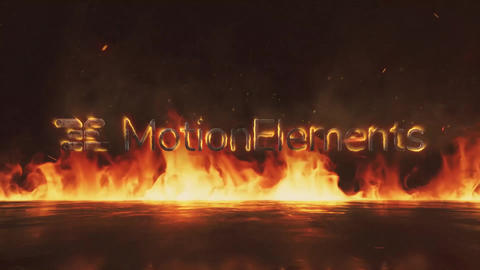 Fire Logo After Effects Template