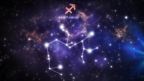Zodiac constellation of SAGITARIUS 4k Animation
