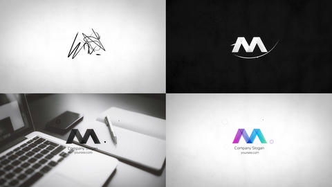 Clean Minimal Drawing Logo Reveal Premiere Proテンプレート