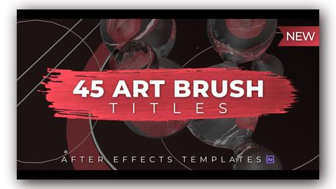 45 Art Brush Titles After Effectsテンプレート
