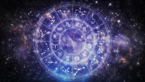 Zodiac Wheel in universe Animation