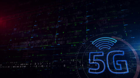 5G network lower thirds background Animation