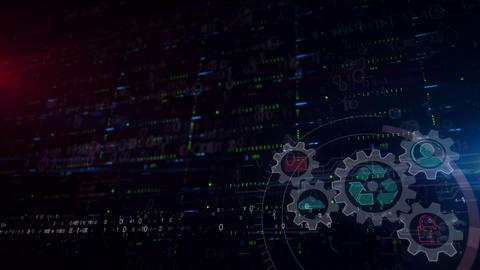 Data management lower thirds background Animation