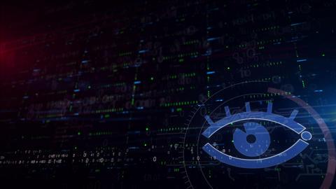 Cyber eye lower thirds background Animation