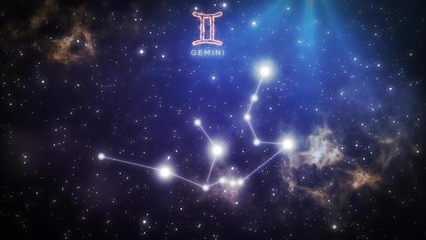 [alt video] Zodiac constellation of GEMINI 4k