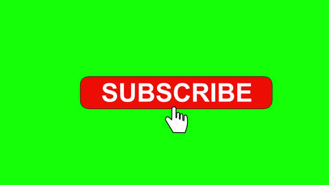 Subscribe and subscribed animation on green background Animation