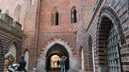 Malbork castle. Gateway fom middle castle to the high castle Live Action