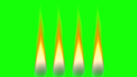 Holiday candles on green background, seamless loop animation background Animation