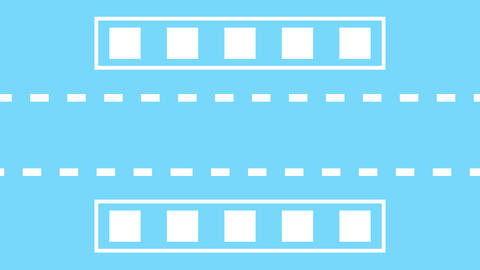 opening and ending light blue background and while line square motion Animation