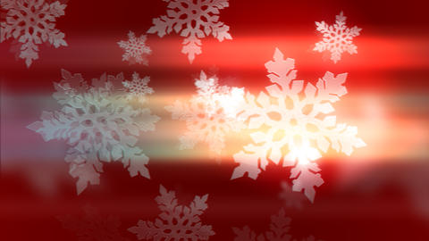 Gorgeous 3d animation of white holiday snowflakes Animation