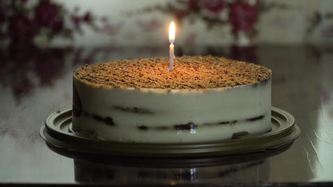 Birthday cake with candle Live Action