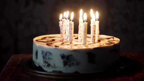 Birthday cake with candles Live Action