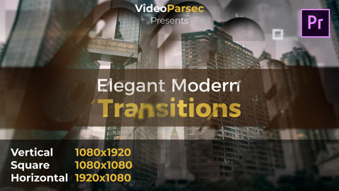 Elegant Modern Transitions Premiere Pro Template